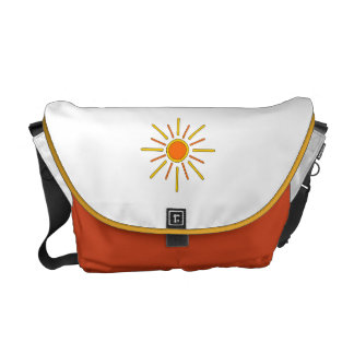 Summer sun. Yellow and orange. Courier Bags