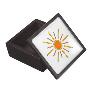 Summer sun. Yellow and orange. Premium Gift Boxes