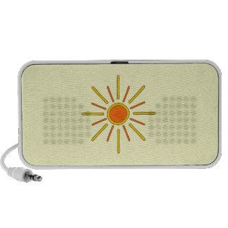 Summer sun. Yellow and orange. Mp3 Speakers