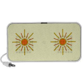 Summer sun. Yellow and orange. Travel Speaker