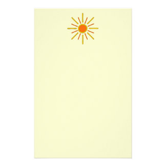 Summer sun. Yellow and orange. Stationery