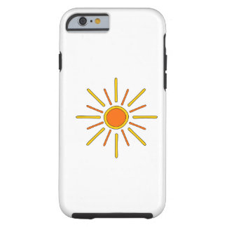 Summer sun. Yellow and orange. Tough iPhone 6 Case