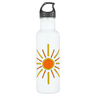 Summer sun. Yellow and orange. Water Bottle