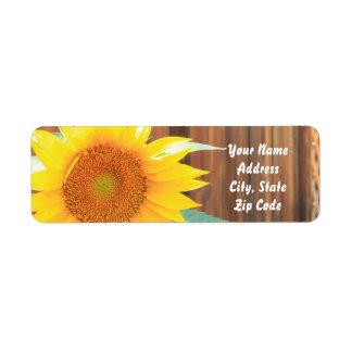 Summer Sunflower Address labels