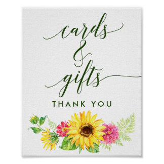 Summer Sunflower Cards and Gifts Sign