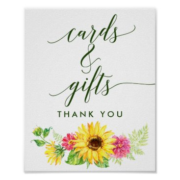 Art Themed Summer Sunflower Cards and Gifts Sign