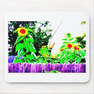 Summer Sunflower Garden Photo Design Mouse Pad