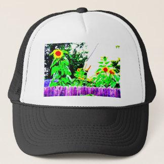 Summer Sunflower Garden Photo Design Trucker Hat