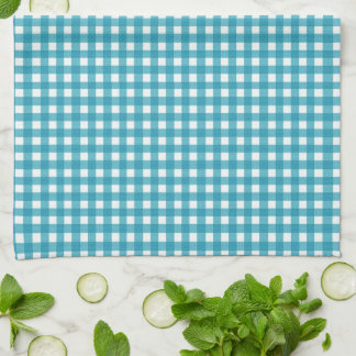 Summer Sunflower Gingham With Name Hand Towel