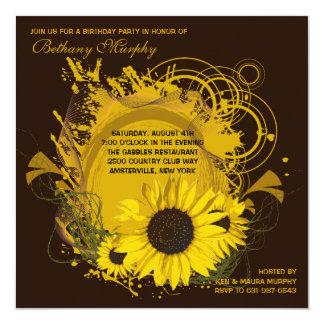 Summer Sunflower Invitation