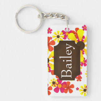Summer Sunflower Key Chain - Personalize