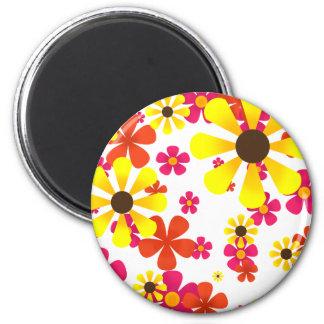 Summer Sunflower Magnet - Yellow Brown Pink Orange