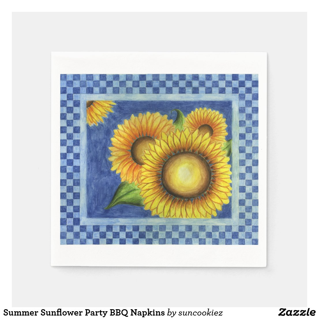 Summer Sunflower Party BBQ Napkins