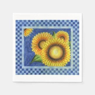 Summer Sunflower Party BBQ Napkins