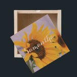 "Summer Sunflower personalized wooden box<br><div class=""desc"">add text or upload your own image</div>"