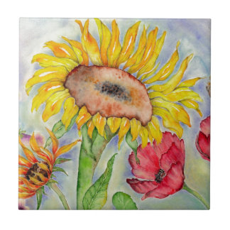 Summer Sunflower Tile