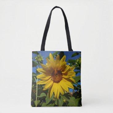 Beach Themed Summer Sunflower Tote Bag