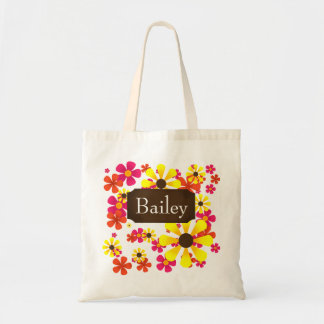 Summer Sunflower Tote Bag - Personalize Name