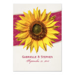 Summer Sunflower Wedding 5x7 Paper Invitation Card