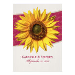 Summer Sunflower Wedding Personalized Announcements
