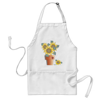 SUMMER SUNFLOWERS by SHARON SHARPE Adult Apron