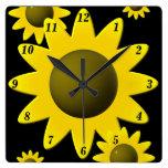 Summer Sunflowers Wall Clocks