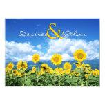 "Summer Sunflowers Wedding Invitation 5"" X 7"" Invitation Card"