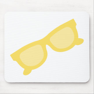 Summer sunglasses yellow hipster eyewear glasses mouse pad