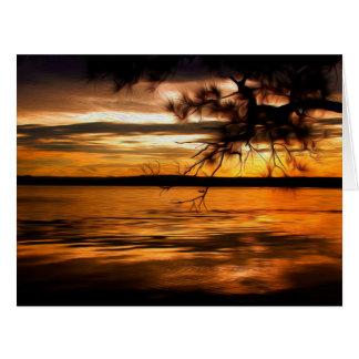 Summer Sunset 7 Card