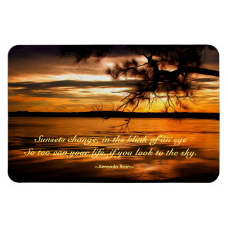 Summer Sunset 7 Rectangular Photo Magnet