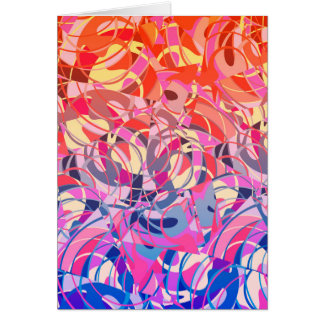 Summer Sunset Abstract -  Purple and Orange Card