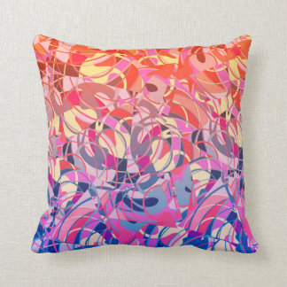 Summer Sunset Abstract -  Purple and Orange Throw Pillow