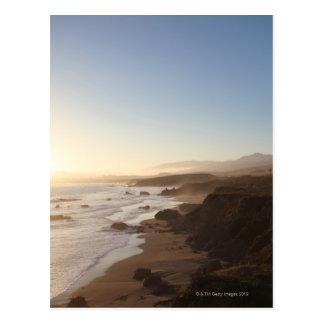 Summer sunset along california highway 1 along post cards