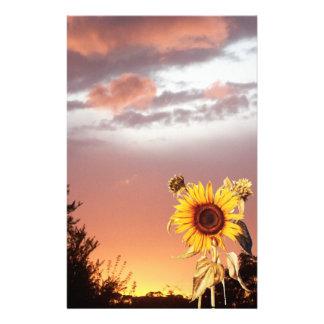 SUMMER SUNSET AND SUNFLOWER STATIONERY
