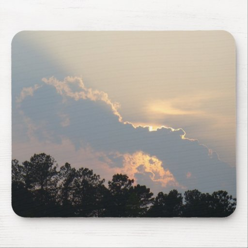 Summer Sunset Behind a Lonely Cloud Mouse Pad