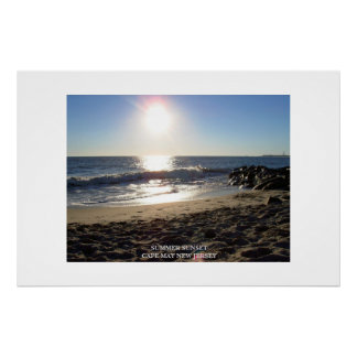 SUMMER SUNSET CAPE MAY NEW JERSEY POSTER