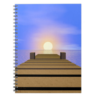 Summer Sunset Dock Notebook