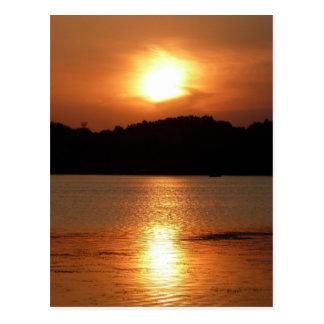 Summer Sunset Glow Postcard