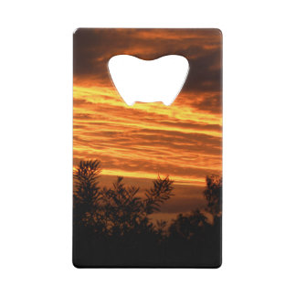 Summer Sunset in Canberra double-sided Credit Card Bottle Opener