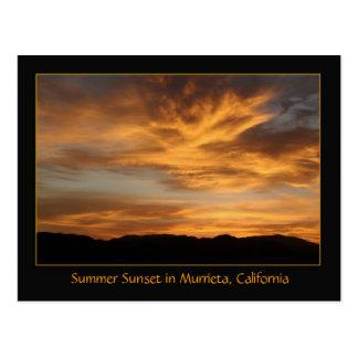 Summer Sunset in Murrieta, CA Postcard