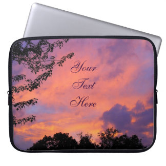 Summer Sunset Laptop Sleeve *Personalize*