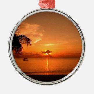 Summer Sunset Metal Ornament
