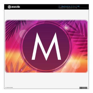 Summer Sunset Palm Trees Monogram Purple Orange Skins For The MacBook Air