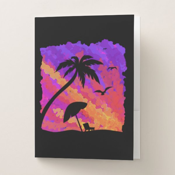 Summer Sunset Pocket Folder