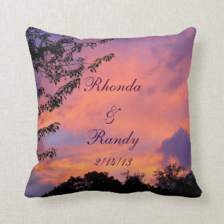 Summer Sunset Romantic Throw Pillow *personalize*