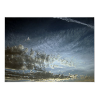 Summer Sunset Sky Poster