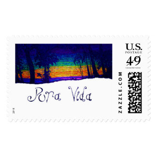 Summer Sunset Stamp / Costa Rica Stamp / Pura Vida