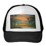 Summer Sunset with Blue Heron Hat