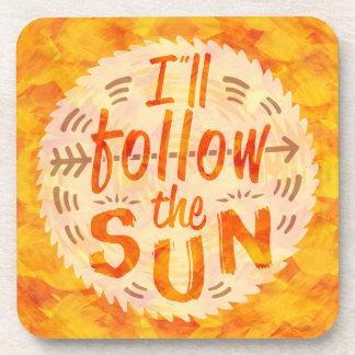 Summer Sunshine Orange Painted Whimsical Party Coaster