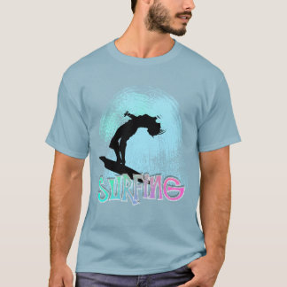 Summer Surf Boarding The Tidal Waves Graphic T-Shirt